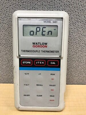 Watlow Gordon Thermocouple Thermometer Model 5401. Tested Working