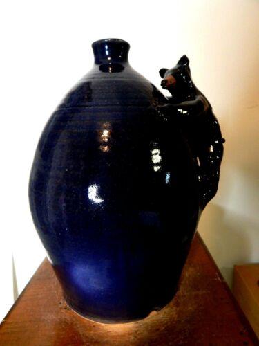 (marvin bailey  bear face jug)   pottery, folk art size 10