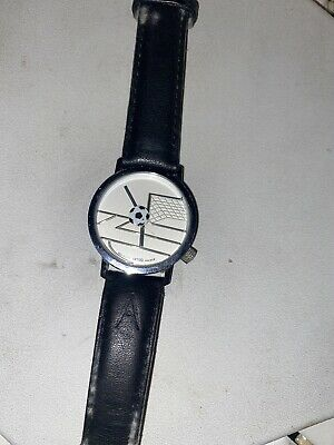 Akteo Soccer Watch collector watch vintage Black Leather Bands HTF