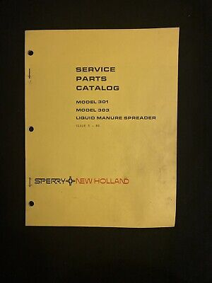 New Holland Service Parts Catalog 301303 Liquid Manure Spreader 1195