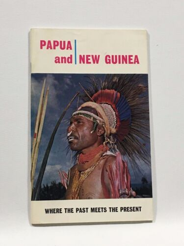 1966 Vintage Papua and New Guinea Travel Brochure and Maps/Advertisements
