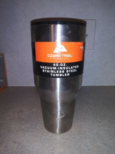 Ozark Trail Vacuum Insulated Stainless Steel Tumbler With Lid 40 Oz