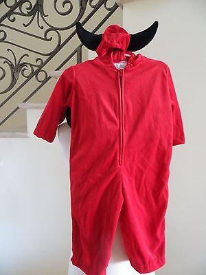 Halloween Cute Baby Costume Spirit Plush Lil' Devil Jumpsuit Size 12-24 MO 2T