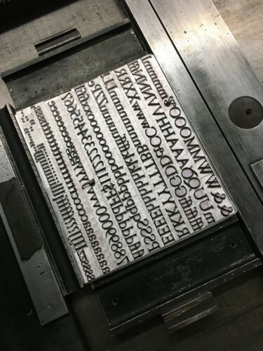 New Letterpress Type - 36 point Goudy Old Style Roman