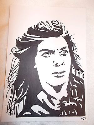 A4 Black Ink Marker Pen Sketch Actress Natalie Tena Asha from Game of Thrones