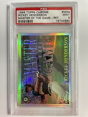 Rickey Henderson 1996 Topps Chrome Master Of the Game Refractor #6 PSA 9 NO 10s!