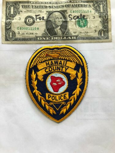 Hawaii County Police Patch Un-sewn great shape