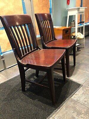 Wood Restaurant Dining Chairs Sturdy Dark Cherry