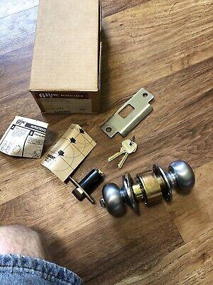 Vintage Sargent 6 Line Bored Cylindrical Lock Door Knob Set Nos Model 6g05