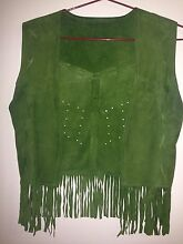 Green suede-feel vest - size M Sandgate Brisbane North East Preview
