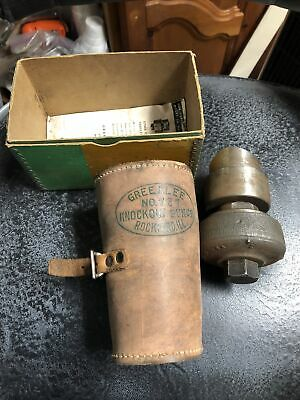 Greenlee Knockout Punch Hand Tool Set No. 737wleather Case 1 12 2 And Box
