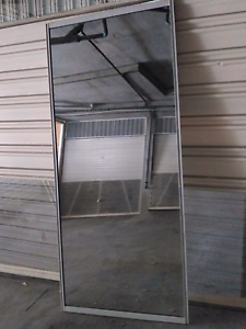 Large Mirror in White Aluminium Frame 252*110 Chatswood Willoughby Area Preview