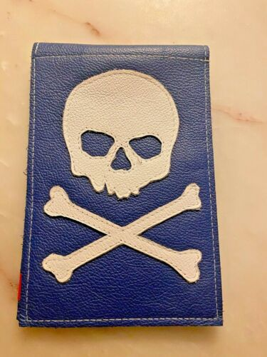 Robert Mark Golf Union Jack Skull Yardage Book / Scorecard Holder New never used