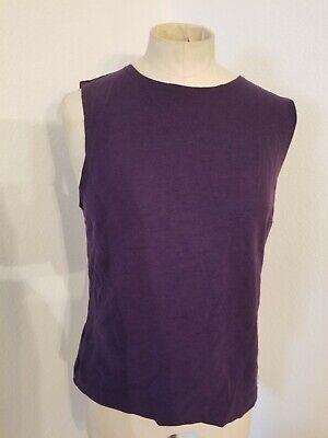 Dolce & Gabbana Basic Wool Shell Tank  Sz 46 Purple Womens
