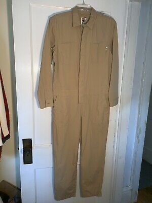 Vans NWT Off The Wall Women's Khaki Jumpsuit Speed Suit Coveralls sz XS   -