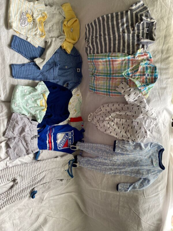 baby boy clothes lot 0-3 Months 27 Pieces Janie And Jack ,Chick Pea, Koala Baby