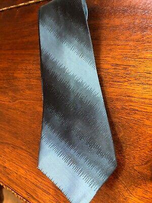 1940s Mens Ties | Wide Ties & Painted Ties Men's Vintage Tie Necktie 1940's 50's Skinny Blue Black 100% Silk Rockabilly $7.99 AT vintagedancer.com