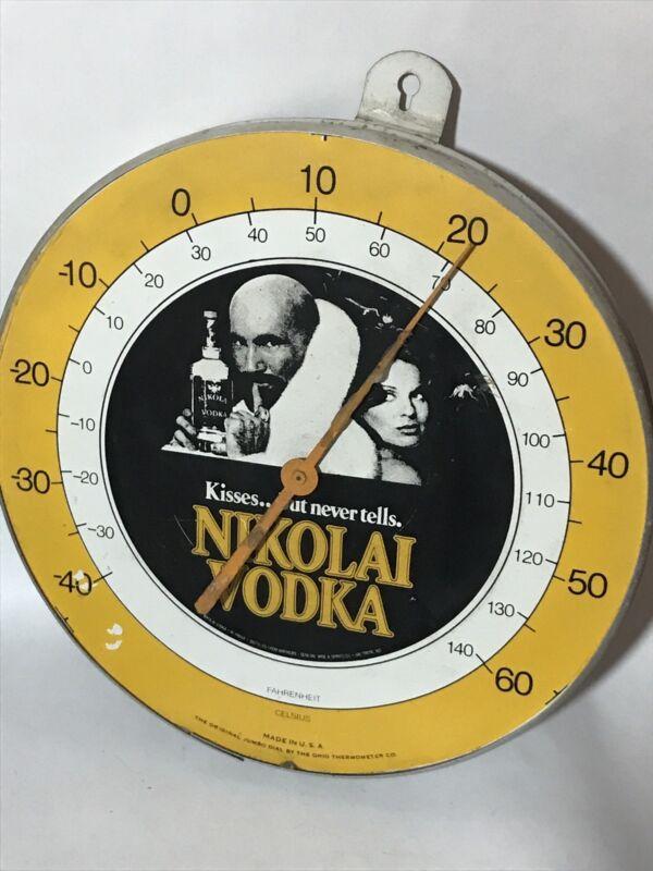 Nikolai Vodka Thermometer Vintage Gauge RARE! WORKS! Bar Decor