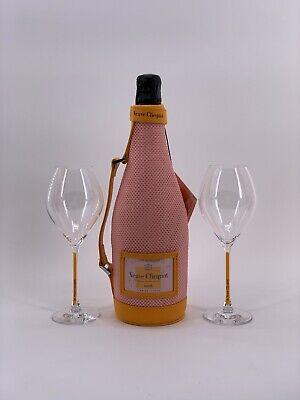 Veuve Clicquot Rose Champagner Flasche 0,75l 12%Vol + 2 Veuve Gläser +Ice Jacket