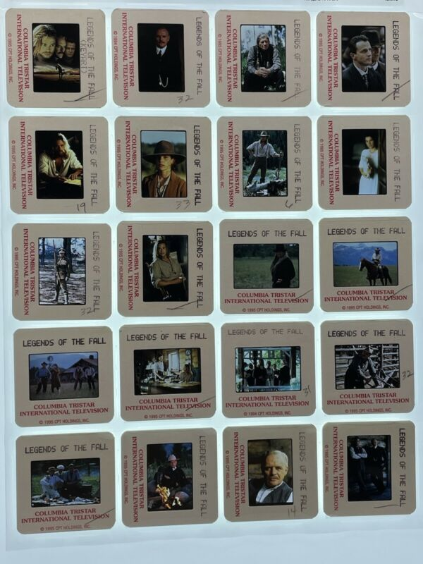 20 Legends of the Fall Movie 35mm Slides Press Kit Promo Brad Pitt Lot #1