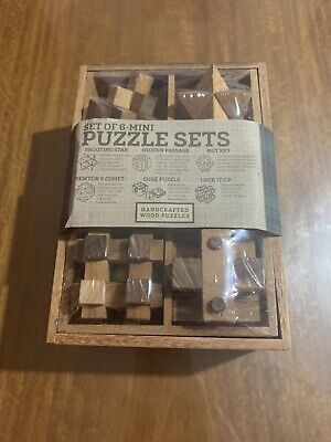 Siam Mandalay 6-Piece Mini Puzzle Sets, Handcrafted Wood,