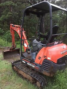 Kubota KX41-3 Mini Excavator on Alloy Trailer Maleny Caloundra Area Preview