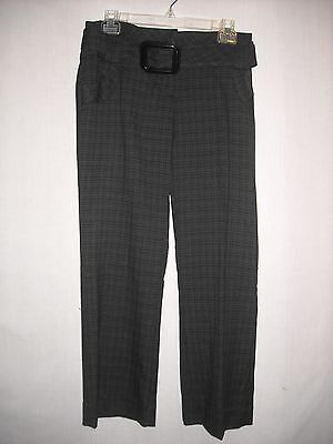 Joe Benbasset Pants size 7 Juniors black gray belted cropped pants New With Tags