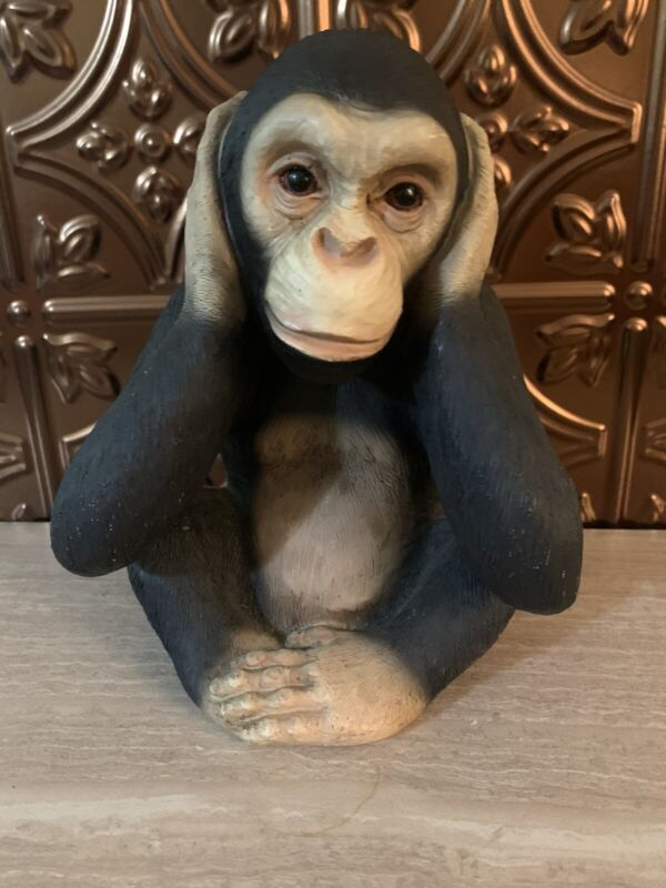 Vintage Montefiori Collection, Hear No Evil Monkey Made Of Resin