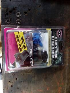 Prewired 7 pin Round Trailer Plug NEW