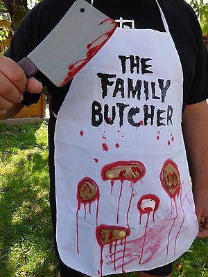Metzger Halloween-kostüm (HALLOWEEN-KOSTÜM FAMILY BUTCHER+ blutigem BEIL Metzger-Schürze+Filmblut Horror)