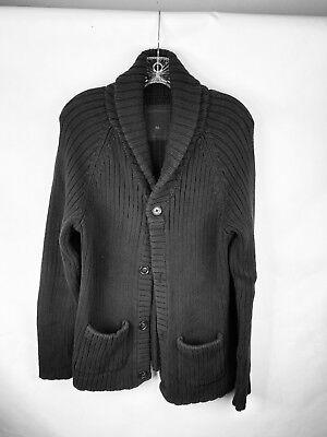Calvin Klein Black Long Sleeve Cardigan Button Down EUC Unisex Size M Calvin Klein Cotton Cardigan