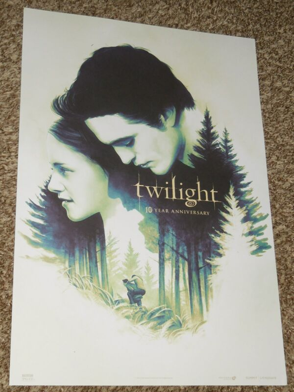 Twilight 10th Anniversary 13.25x19.5 Promo Movie Poster