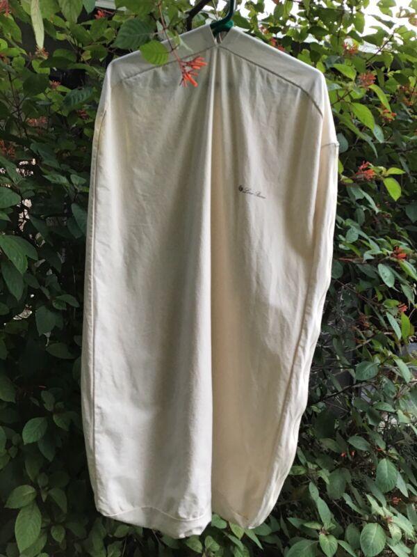 EUC. Loro Piano Garment Bag/ Natural Canvas / W/ Side Zipper.