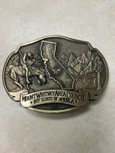 Mount Whitney Area Council Limited Edition Brass Belt Buckle