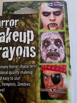 Halloween Horror Makeup Crayons Kit Costume Face Paint Zombies Pirates Vampires  (Halloween Painted Faces Zombies)