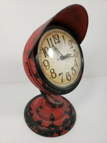 Standing Rustic Red Clock