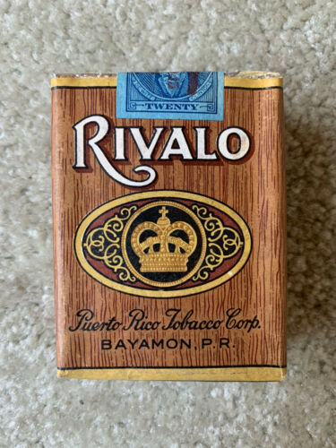 VINTAGE / COLLECTABLE 1945 RIVALO PUERTO RICO CIGARETTE PACKET FREE SHIPPING