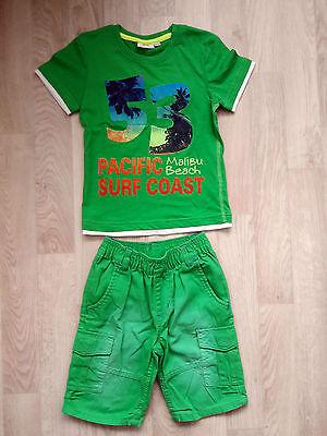 Sommer-Outfit für Jungen 2erSet, T-Shirt + Hose, Gr.98/104, NEU