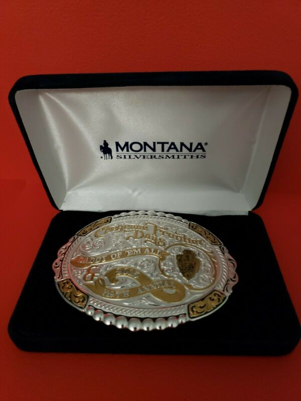 Frontier Days Belt Buckle-119th Annual- Montana Silversmiths