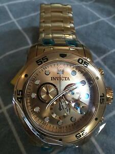Invicta Men's 0073 Pro Diver Collection Chronograph 18k Gold-Plated Haymarket Inner Sydney Preview