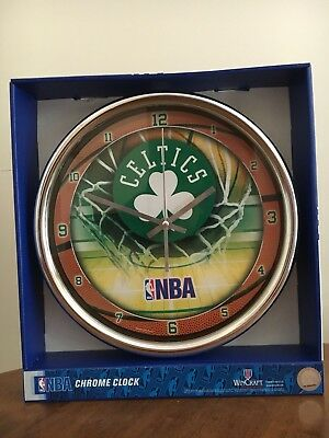 New WinCraft NBA Boston Celtics Chrome Wall Clock (Boston Celtics Clock)