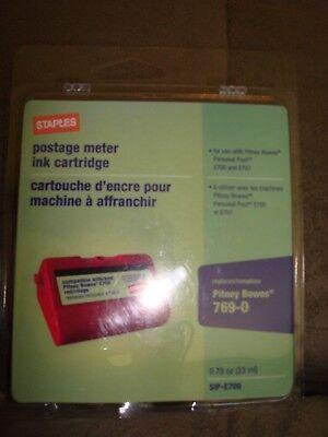 Staples Postage Meter Ink Cartridge Pitney Bowes 769-0