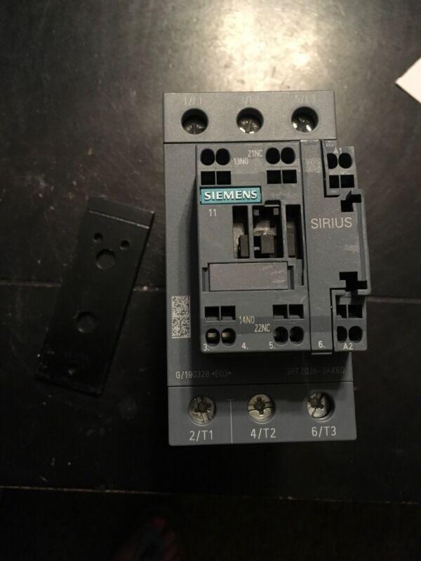 Siemens 3RT2036-3AK60, CONTACTOR S2 50A 120VAC SPRING 1NO/1NC