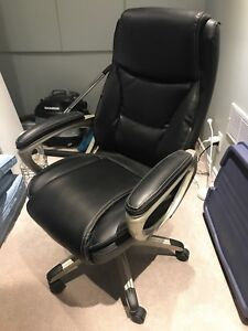 Genuine leather office chair - $100