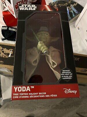 Star Wars Yoda Christmas Tree Topper Lighted Light Saber Kurt Adler Lucas Film