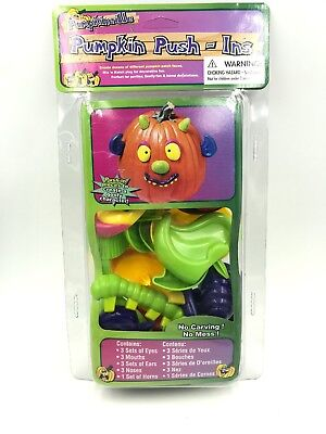 Halloween Pumpkin Push Ins No Carving No Mess 13 pieces NIP - Pumpkin Push Ins