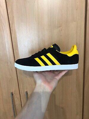 Adidas Originals Gazelle - Black / Gold / White Hamburg - FV3264-UK Size 9