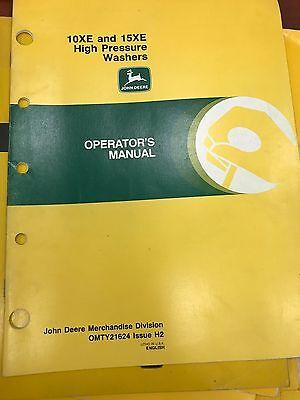 John Deere Op Manual 10xe 15xe High Pressure Washers Omty21624 Usedbw