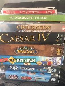 wow  / caesar iv  hit and run/ simms /  roller coaster tycoon Balga Stirling Area Preview