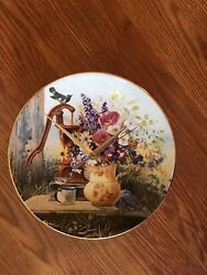 Floral Country Welcome 8 1/2 Inch Clock !!
